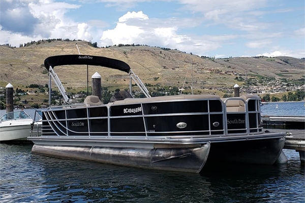 22' pontoon boat for rent vernon bc